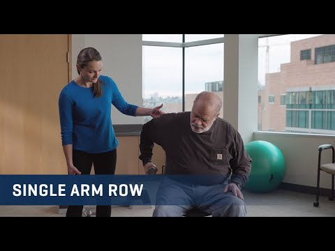 Embedded thumbnail for Single Arm Row Exercise Video