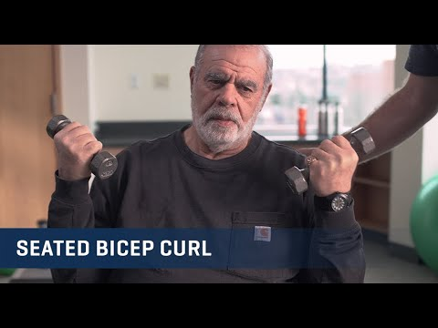 Embedded thumbnail for Seated Bicep Curls Exercise Video