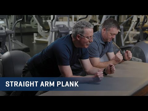 Embedded thumbnail for Straight Arm Plank Exercise Video